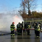 Fire fighters training