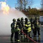Team of fire fighters